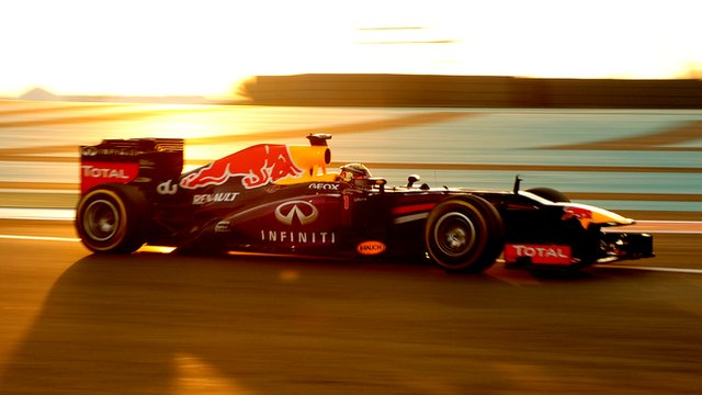 Sebastian Vettel drives on his way to winning the Abu Dhabi Grand Prix