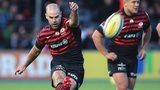 Charlie Hodgson lands a penalty in Saracens' win over Newcastle