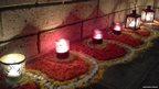 Row of candles. Photo: Neeharika Prasad