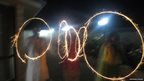Neeharika Prasad's Diwali guests twirl sparklers. Photo: Neeharika Prasad