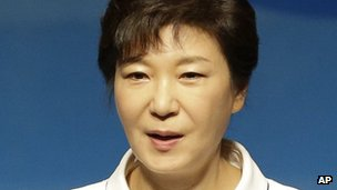South Korean President Park Geun-hye, in a file image from 15 August 2013