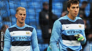 Joe Hart and Costel Pantilimon