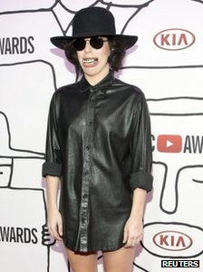 Singer Lady Gaga attends the YouTube Music Awards in New York November 3, 2013.