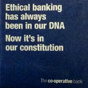 Detail from Co-op Bank newspaper ad