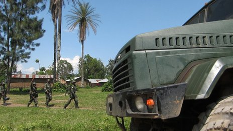 DRC troops in recaptured M23 territory