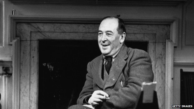 Picture of C.S.Lewis sitting at his desk
