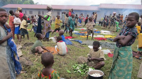 Thousands seek refuge from the fighting in Ntamugenga