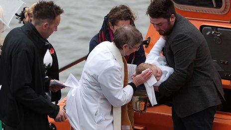 Lifeboat christening