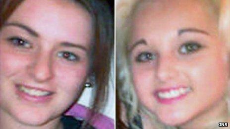 Olivia Lewry (left) and Jasmine Allsop