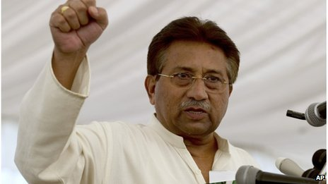 File photo of former Pakistani President Pervez Musharraf, April 2013