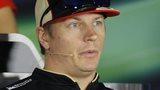 Kimi Raikkonen looking upset