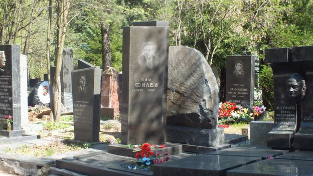 Kim Philby's grave in Moscow