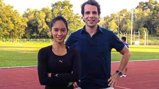Maziah Mahusin and BBC presenter Mark Beaumont
