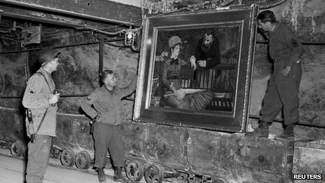 Manet's Wintergarden in mine, inspected by US troops