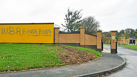 Graffiti at Wolves training ground
