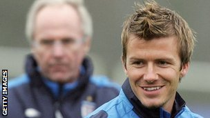 Sven Goran Eriksson and David Beckham