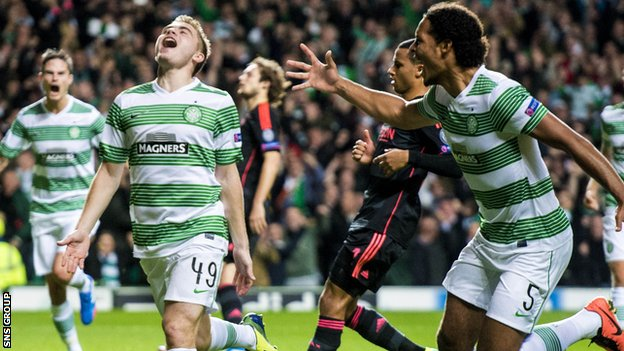 Celtic beat Ajax 2-1 in Glasgow