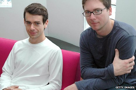 Jack Dorsey and Biz Stone in 2007