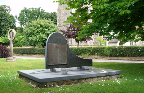 Memorial in churchyard
