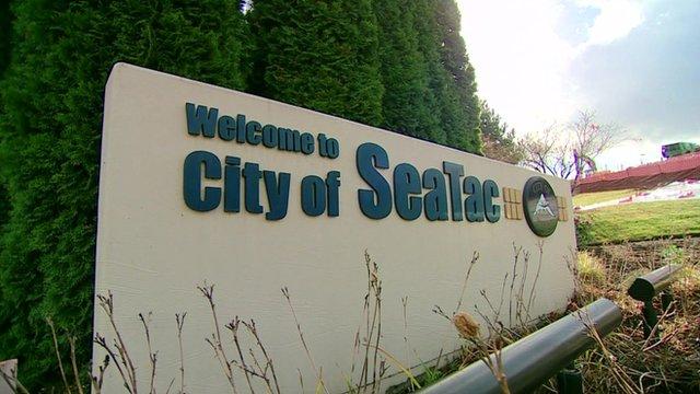 City of SeaTac sign