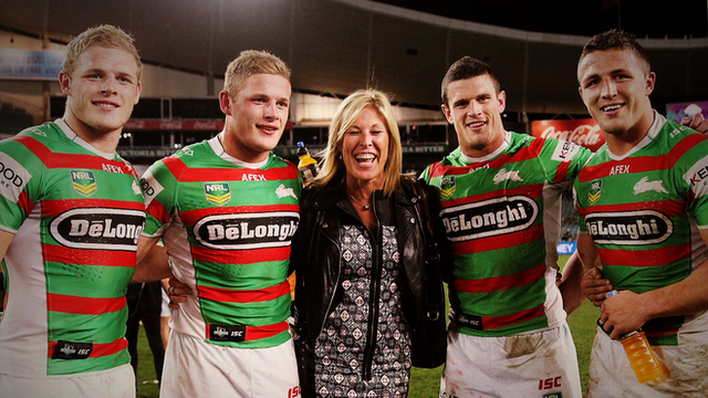 Thomas, George, Julie, Luke and Sam Burgess in Sydney