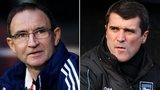 Matin O'Neill and Roy Keane