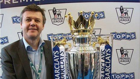 Bill Wilson with English Premier League trophy