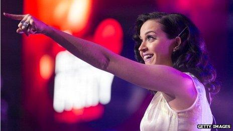 Pop singer Katy Perry