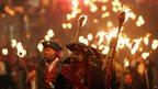 Lewes bonfire parade