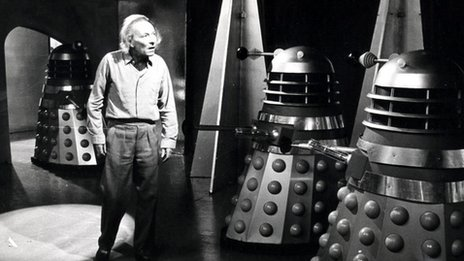 William Hartnell and the Daleks in 1963's Survivors