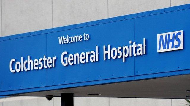 Colchester General Hospital sign