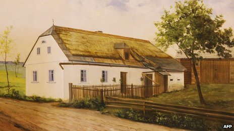 Painting of a farmhouse