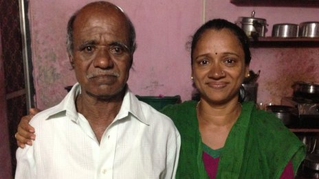 Ganpat Jadhav and daughter Meena