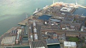 Portsmouth's naval dockyard