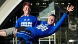 Scottish weightlifters Georgina Black and Craig Carfray