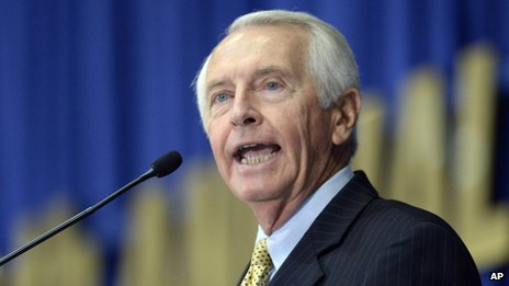 Kentucky Gov Steve Beshear appeared at the Kentucky State Fairgrounds in Louisville, Kentucky on 22 August 2013