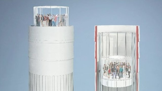 An image of what one of the chimneys could look like