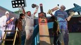Indian workers adjust cut-outs of Indian cricketer Sachin Tendulkar on a float made in honour of his second to last Test to be played against the West Indies in the city, in Kolkata on November 3, 2013