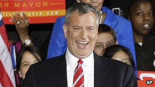 Bill de Blasio, New York mayor-elect (6 November)