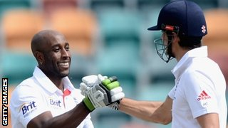 England's Michael Carberry and Alastair Cook