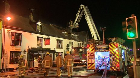 Fire in High Street, Tenterden