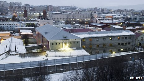 A general view of the detention centre where 30 Greenpeace activists are being held in Murmansk October 30, 2013