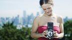 Woman using camera