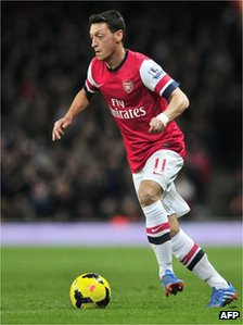 Ozil with ball
