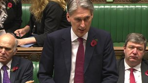 Philip Hammond addresses the Commons