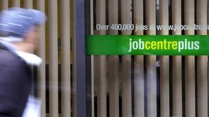 Person passing a Jobcentre