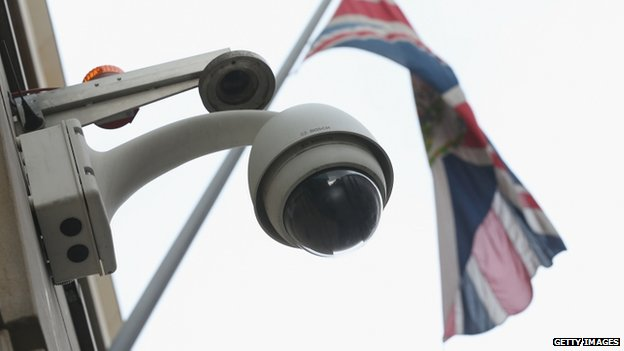 Cameras at the British embassy in Berlin, 5 November