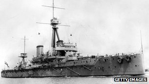 British warship HMS Dreadnought