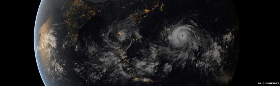 EUMETSAT image of Super Typhoon Haiyan