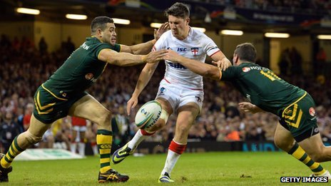 England v Australia in the Rugby League World Cup